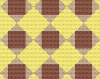 Sandra Quilt Afghan C2C Crochet Pattern, Written Row by Row Counts, C2C Graphs, Corner to Corner Crochet Pattern, Graphgan, C2C Graph