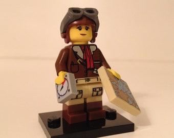 ON SALE Amelia Earhart LEGO Custom Minifigure
