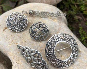 Beautiful Sterling Silver Celtic Pins And Brooches, Various designs