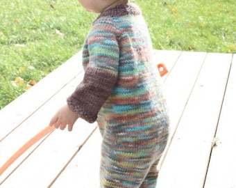 Petit Garcon Romper Knitting PATTERN - Full of custom options