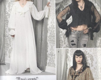 Arkivestry Steampunk Dress And Top In Two Lengths Goth Gown And Blouse Size 6 8 10 12 Sewing Pattern 2011 Simplicity 2163
