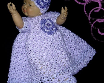 baby dress; crochet baby dress; baby outfit; coming home outfit; newborn girl clothes; crochet baby clothes; infant dress;  baby girl outfit