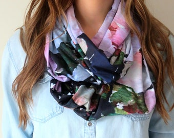 Peony Love  - Art scarf