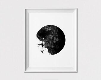 Wall Art, Minimalist Print, Abstract Poster, Geometric Print, housewarming gift, Home decor,  Black and White, ArtFilesVicky