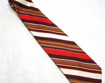 Red And Black Necktie Clyde Campbell Neck Tie