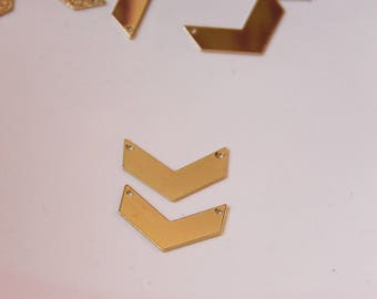 Sequin chevron sandard 2cm gold-tone connector