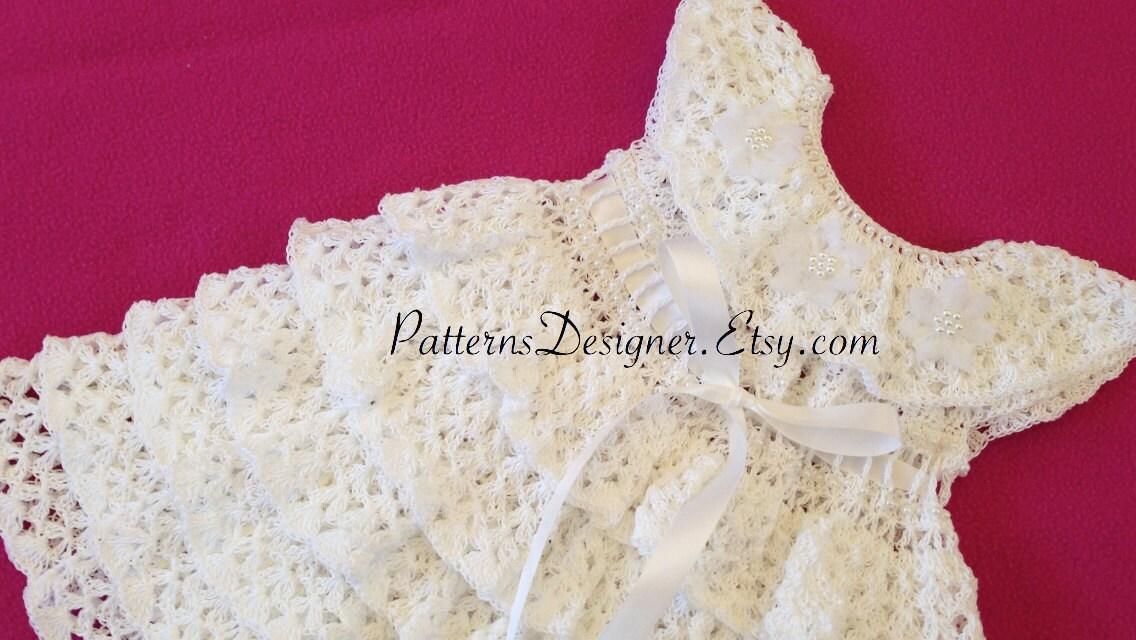 Pt060a 0 12 Months Original Designer Crochet Christening