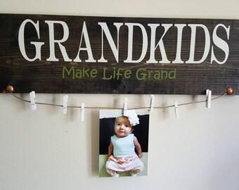 Grandkids picture frame/ grandkids sign