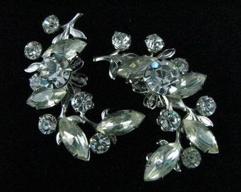 Vintage Rhinestone Earrings Wedding