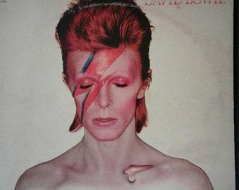 David Bowie ~ Aladdin Sane LP ~ 1970s RCA Original ~ Vinyl Record
