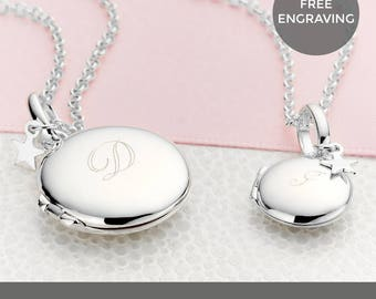 Molly B London™ Personalised Sterling Silver Large Lulu Locket Necklace