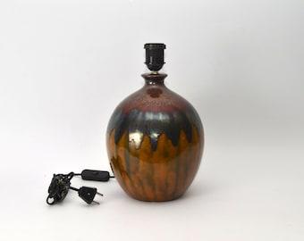 Ceramic table light / lamp, 1970s West Germany pottery era