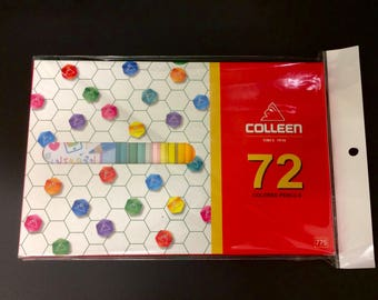 New 1 box 72 Colleen colored pencil pastel color, Hexagonal color pencil