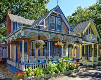 The Highlander, Oak Bluffs gingerbread house, Martha's Vineyard, home decor, wall art, photo art, archival print by Joe Parskey