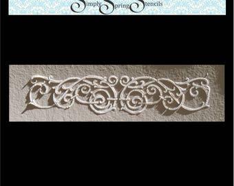 Stencil, Wall Stencil, Plaster Stencil, Furniture Stencil,  Carina Border