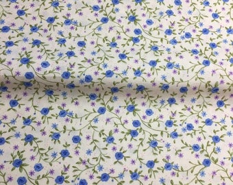 Purple and blue floral Liberty fabric