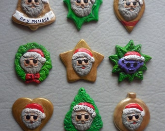 NEW Jerry Garcia Santa Christmas ornaments, free personalizing, select from the shape menu