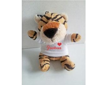 Personalisierte Tiger Schlüsselanhänger, Tier-Schlüsselanhänger, weiches Spielzeug Schlüsselanhänger