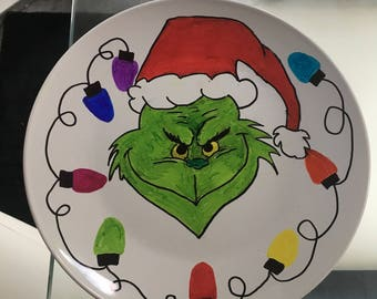 Grinch Christmas Eve Plate