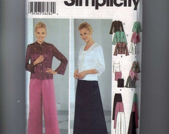 Misses Sewing Pattern Simplicity 5725 Misses and Petite Evening Camisole Tops Pants Skirt Size 14 16 18 20 22 24 UNCUT