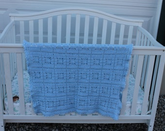 Baby Blanket crocheted afghan