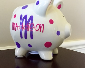 Personalized Piggy Bank, Kids Piggy Bank