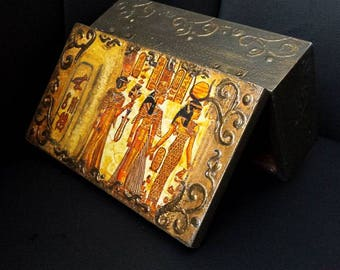 "Handmade wooden Box ""Egypt"" * * * Decoupage Unique"