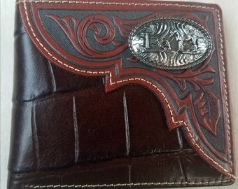 Men's Leather Wallet, Handcrafted Classic Bi fold ...