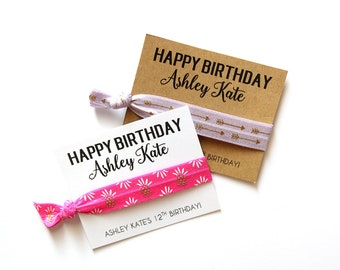 Birthday Personalized Hair Tie Favor | Custom Birthday Favor | Pineapples | Arrows | Birthday Party Favor
