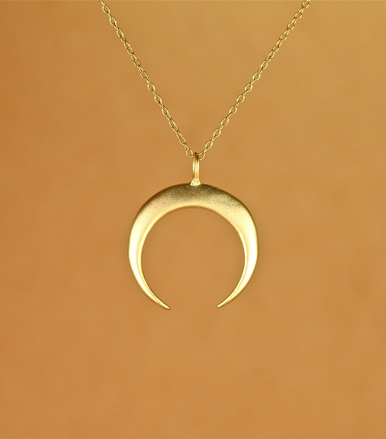 zoom crescent horn il gold necklace double fullxfull jtve moon listing