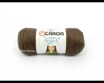 Caron Simply Soft Yarn, Taupe, 6oz