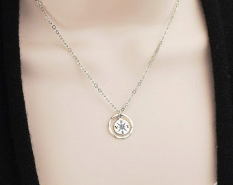 Sterling Silver Compass Necklace - Best Selling Items - Compass Jewelry - Wanderlust - Mindfulness Jewelry - Mother Gift from Daughter