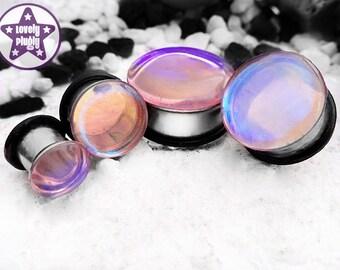 "Big Stupid Jellyfish Plug / Gauge Translucent Clear Blue Pink Colour Flash 2g, 0g, 00g, 7/16"" / 6mm, 8mm, 10mm, 11mm"
