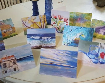 Greeting cards of my favorite original paintings, seascapes, landscapes, still life.