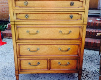 Vintage Tall Drexel Dresser