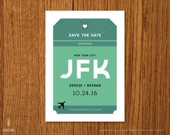 Love is in the Air | Printable Wedding Save the Date Template | Instant Download