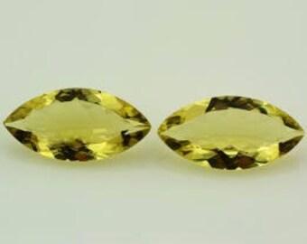 Genuine Natural Lemon Quartz AAA Marquise Loose Gemstones 10x5mm (10 pcs lot)
