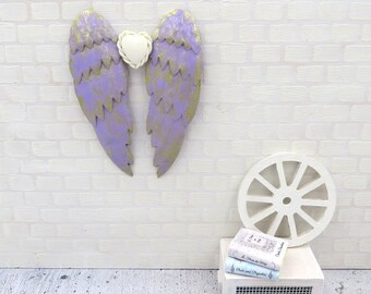Lilac angel wings in 1:12 scale