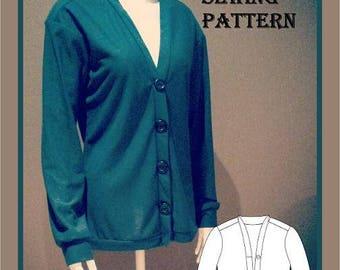 Ladies Cardigan Sewing Pattern