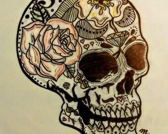 Dia De Los Muertos Skull (Tattoo Art)