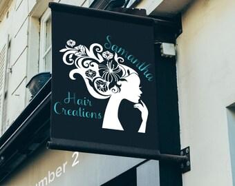 Hair SVG, Hair Salon SVG, Dfx, File, Png, Vinyl, Vinyl Sign, Hair Salon Sign, Hair Stylist Sign, Cutting Machine, Cricut, Cameo, Silhouette