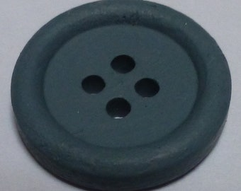 Small round hand painted wooden buttons – Light Grey