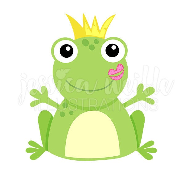 kiss a frog cute digital clipart frog kiss clip art frog rh etsy com frog prince clip art free frog prince clipart free