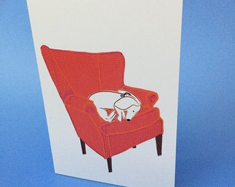 Relax and Chill Doxie Card Dachshund Card Wiener Dog Card
