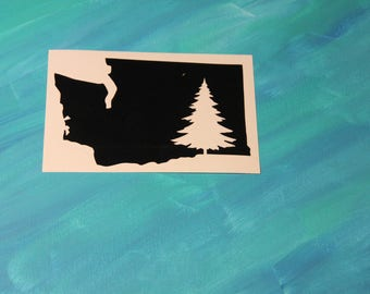 Pine Tree Washington Vinyl Decal