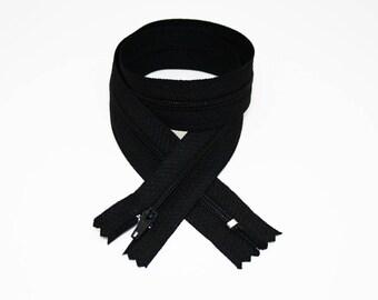 Zipper, 50 cm, black, not separable