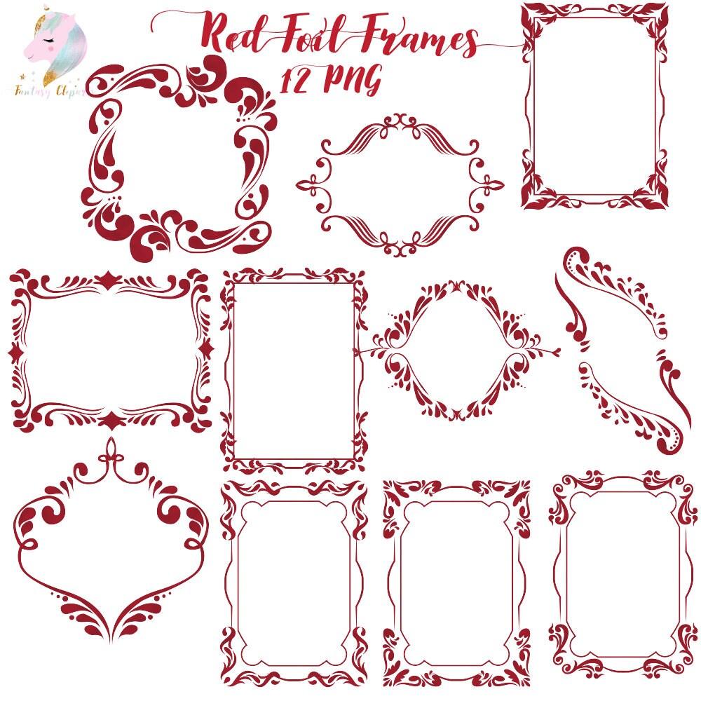 Rahmen Clipart rote Folie Rahmen gotische ClipArt Halloween
