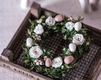 1:12 Miniature Easter Wreath
