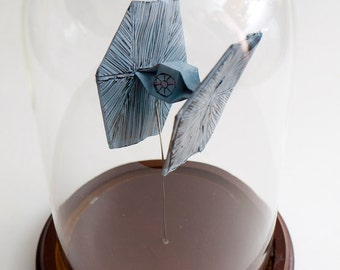 Origami starship Tie-Fighter large decorative globe -Made to order