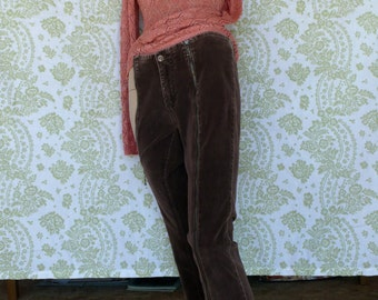 CORDUROY BELL BOTTOMS Vintage 70's with zippers up the legs // Very very Sexy // This sweater and pants are Original 70's wear // cool man
